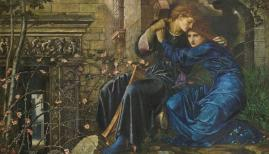 Sir Edward Coley Burne-Jones, Love Among the Ruins, 1870-1873, Private Collection