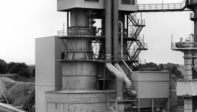Bernd & Hilla Becher Lime Kiln, Kaltes Tal, GER, 1997 Black and White photography Courtesy the artists and Sprüth Magers Berlin London