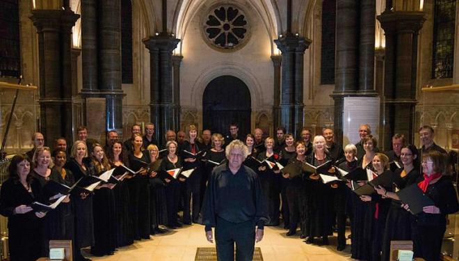 The English Chamber Choir sings at the Temple Church. Photo: John Watson