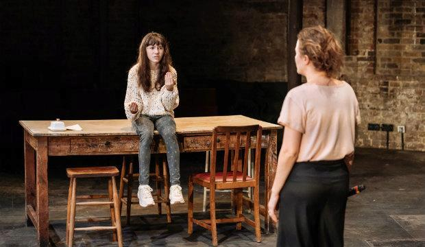 Clara Read in The Wild Duck, Almeida Theatre. Photo by Manuel Harlan