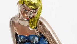 Jeff  Koons, Seated Ballerina mirror-polished stainless steel with transparent colour coating ©  Jeff  KoonsArtist's  proofEdition  of  32010–2015