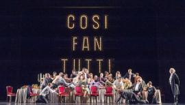 Mozart's comedy Così Fan Tutte boasts a young and lively cast. Photo: ROH