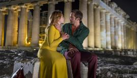 Florence Pugh and Alexander Skarsgard in The Little Drummer Girl
