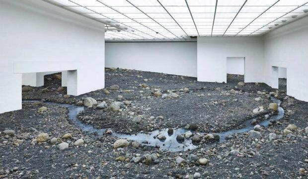 Riverbed, by Olafur Eliasson, 2014, installation views at Louisiana Museum of Modern, Art, Humlebæk, Denmark, 2014. Photography: Anders Sune Berg