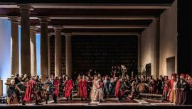 Renaissance Genoa is richly re-created in 'Simon Boccanegra'. Photo: Clive Barda