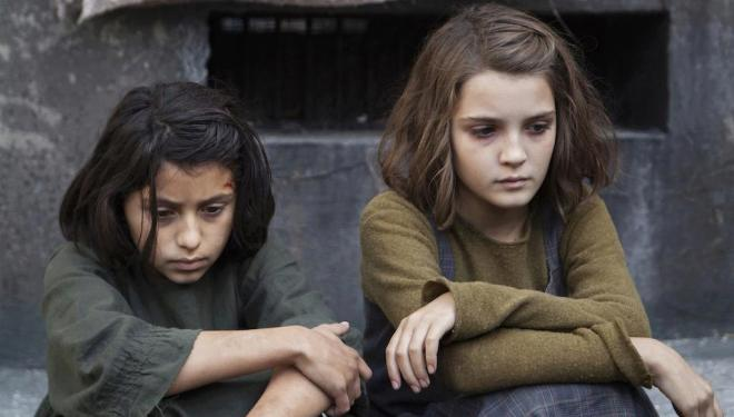 Ludovica Nasti and Elisa del Genio in My Brilliant Friend