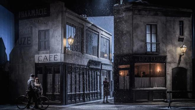 The Paris of ENO's 'La Bohème' has a filmic quality. Photo: Robert Workman
