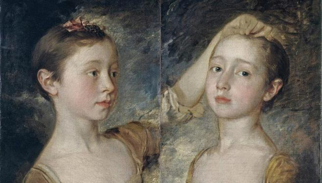 Mary and Margaret, the Artist's Daughters by Thomas Gainsborough, c.1760-1. Victoria and Albert Msueum, London. Bequeathed by John Foster © Victoria and Albert Museum, London
