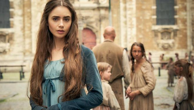 Lily Collins in Les Miserables, BBC