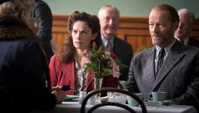 Ruth Wilson and Iain Glen in Mrs Wilson
