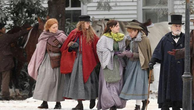 Eliza Scanlen, Saoirse Ronan, Emma Watson and Florence Pugh as the March sisters