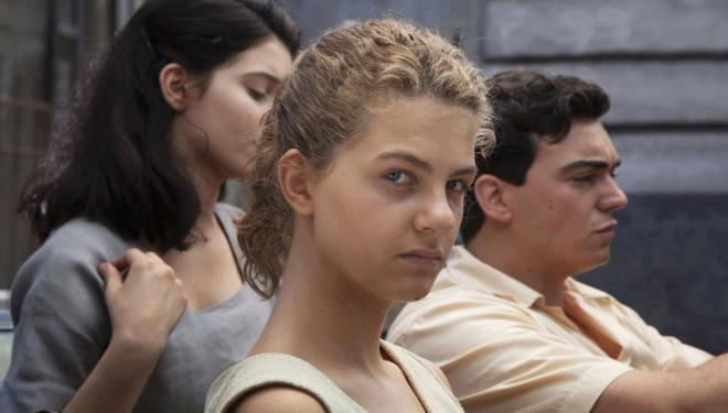 Gaia Girace, Margherita Mazzucco, and Giovanni Amura in My Brilliant Friend