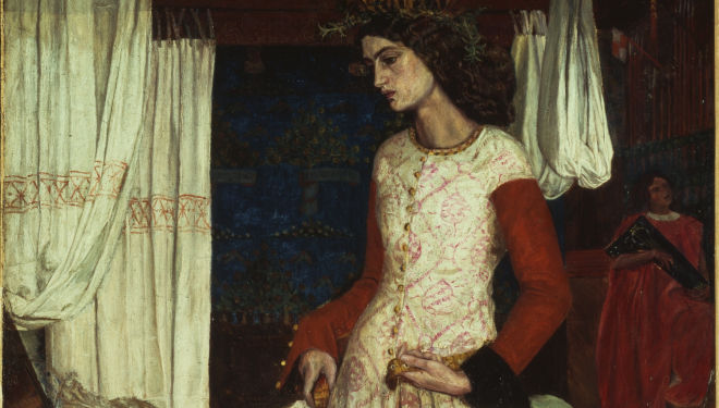 Copyright: Tate 2014  La Belle Iseult by William Morris, 1858, Courtesy of National Portrait Gallery