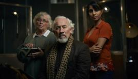 Susan Penhaligon, Simon Callow, and Anjli Mohindra in The Dead Room