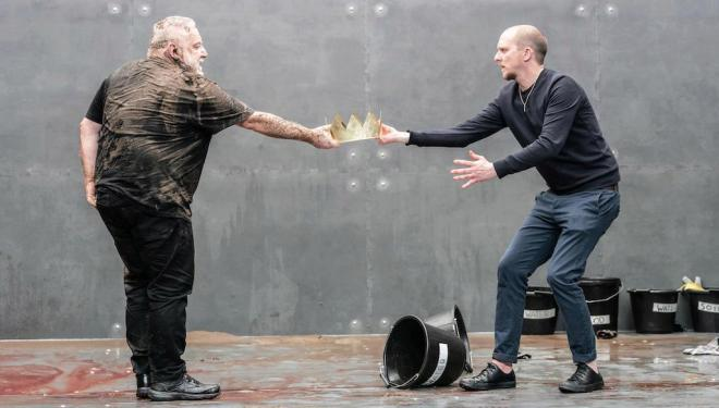 Simon Russell Beale and Leo Bill in The Tragedy of King Richard the Second. Photo: Marc Brenner