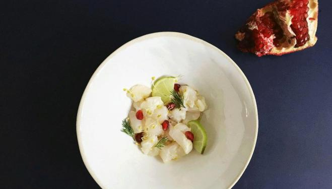 Simple + Healthy recipe: Sea Bass, Lime and Pomegranate Ceviche