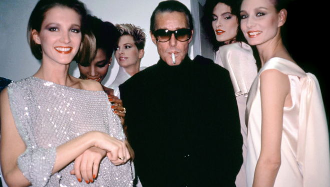 Halston with models from