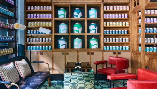 A selection of organic teas at Teatulia in Covent Garden