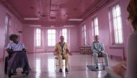 Samuel L. Jackson, James McAvoy, and Bruce Willis in M. Night Shyamalan's Glass