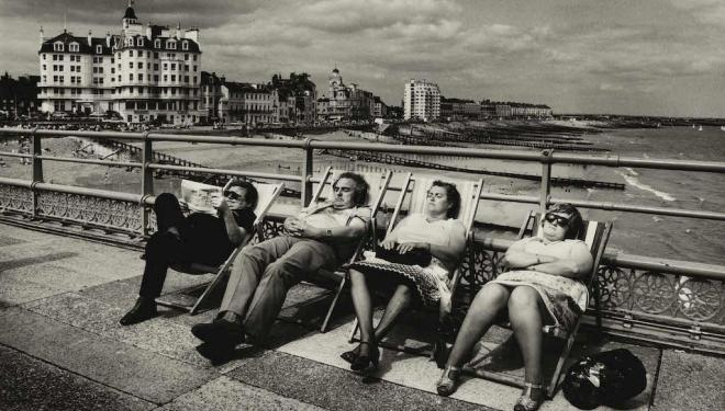 Don McCullin exhibition, Tate Britain: Detail of Seaside Pier on the south coast, Eastbourne, 1970s