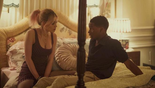 Emma Mackey and Kedar Williams-Stirling in Sex Education