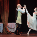 James Streeter, Alina Cojucaru, Jeffrey Cirio in ENB's Manon photo Laurent Liotardo