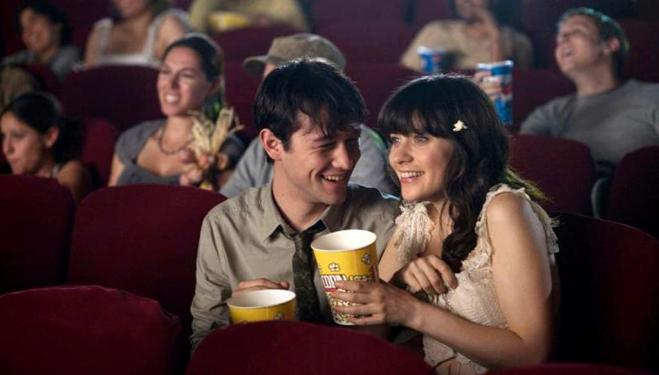 Joseph Gordon-Levitt and Zooey Deschanel in (500) Days of Summer