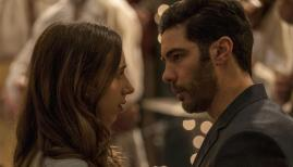 Zoe Kazan and Tahar Rahim in The Kindness of Strangers
