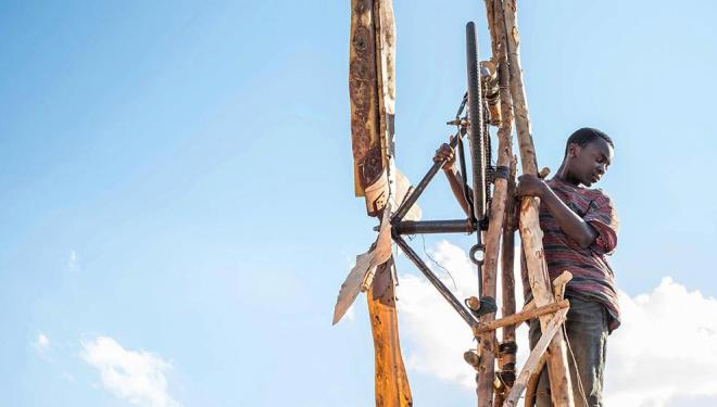 Maxwell Simba plays William Kamkwamba in The Boy Who Harnessed the Wind