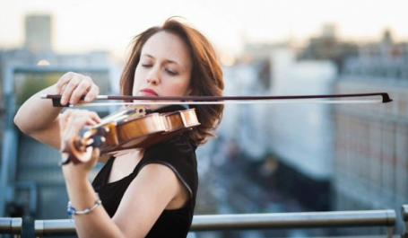 Violinist Miriam Teppich plays at St James's Piccadilly on 5 April