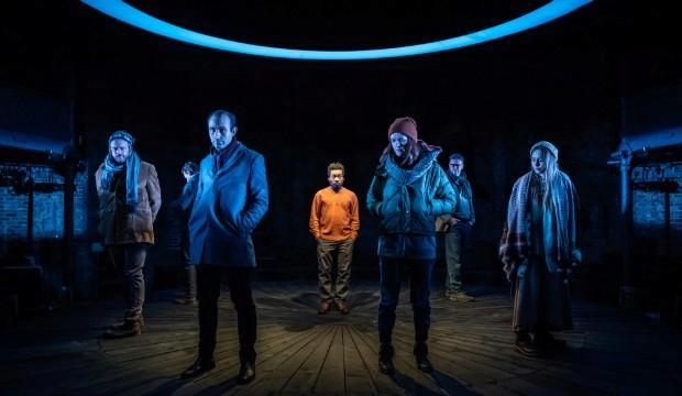 The cast of Shipwreck at Almeida Theatre. Photo by Marc Brenner