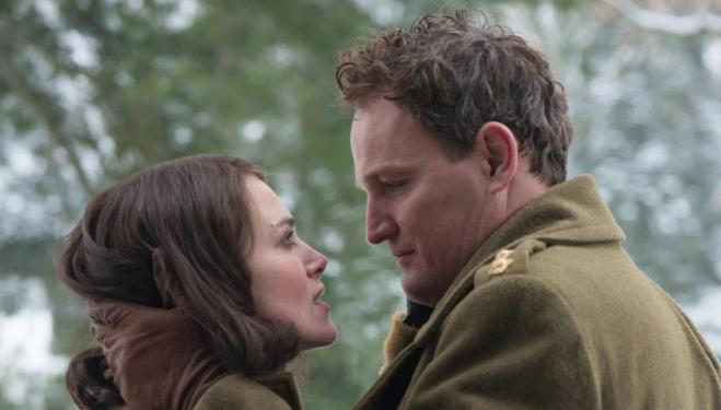 Keira Knightley and Jason Clarke in The Aftermath