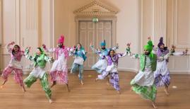 Bhangra dancers, Assembly Rooms, Edinburgh, Scotland, 2017. Commissioned by BBC One. Image: Martin Parr / Magnum Photos / Rocket Gallery
