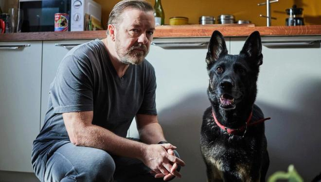 Ricky Gervais in After Life, Netflix