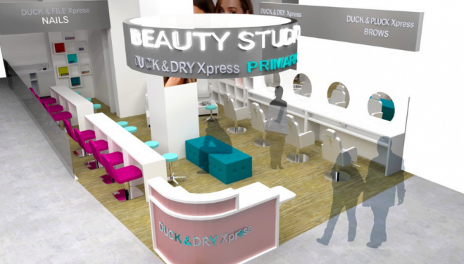 Primark launch beauty services with Duck & Dry