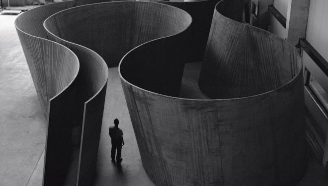 Inside out by Richard Serra, 2013, courtesy of Gagosian Gallery