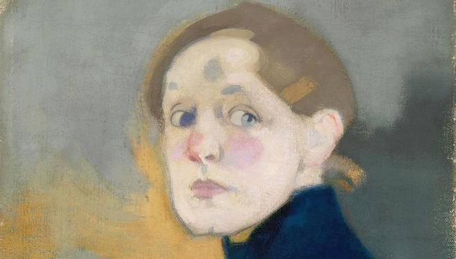 (Detail) Helene Schjerfbeck, Self-portrait, 1912. Finnish National Gallery / Ateneum Art Museum; photo: Yehia Eweis