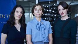 Sian Clifford, Kristin Scott Thomas and Phoebe Waller-Bridge in Fleabag