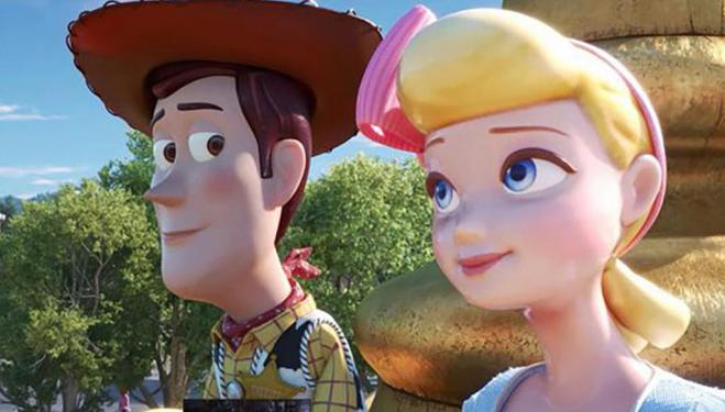 The relationship between Woody and Bo develops in Toy Story 4