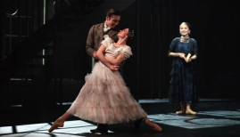 Abigail Prudames as Victoria, Joseph Taylor as Albert, Pippa Moore as the older Princess Beatrice, photo Emma Kauldhar