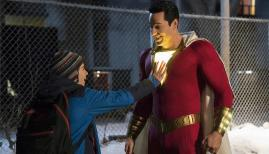 Jack Dylan Grazer and Zachary Levi in Shazam!