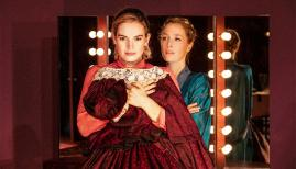 Lily James and Gillian Anderson in All About Eve