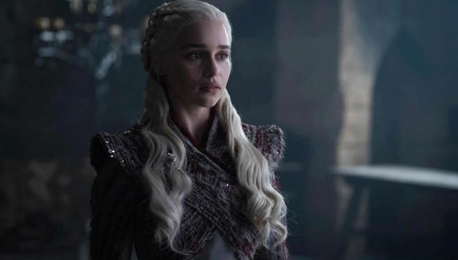Emilia Clarke in Game of Thrones season 8, Sky Atlantic