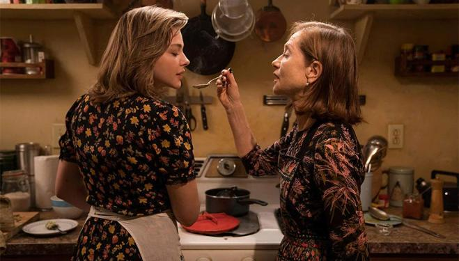 Chloë Grace Moretz and Isabelle Huppert in Greta