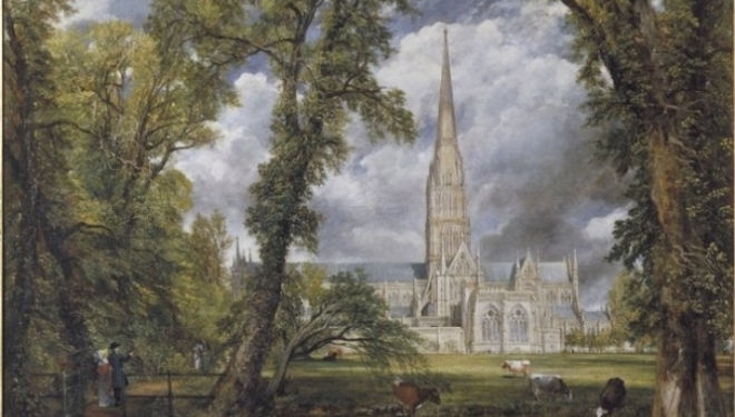 Salisbury Cathedral from the Bishop's Ground, Oil on canvas 1823 John Constable © Victoria and Albert Museum, London
