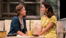 Sally Field (Kate Keller) and Jenna Coleman (Ann Deever) in All My Sons at The Old Vic. Photo by Johan Persson