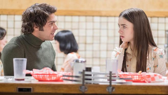 Zac Efron and Lilly Collins in Extremely Wicked, Shockingly Evil and Vile