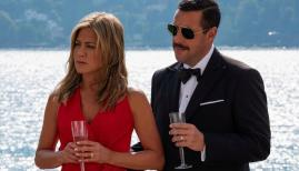 Jennifer Aniston and Adam Sandler in Murder Mystery, Netflix