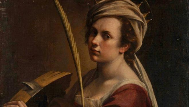 Artemisia Gentileschi (1593 – 1654 or later) Self Portrait as Saint Catherine of Alexandria about 1615-17. © The National Gallery, London