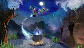 Get immersive with the kids around London. Photo: Room on the Broom at Chessington World of Adventures